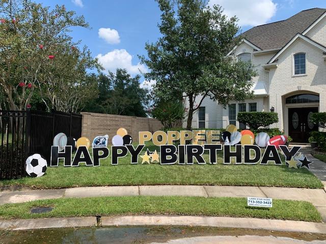 San Antonio Customized Yard Greeting Signs Birthday Lawn Sign