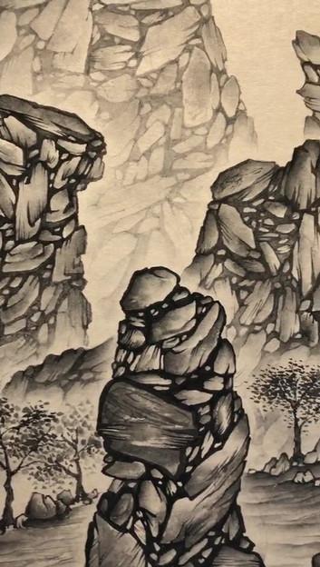[김혜민, 흘러가는, 41 x 27 cm, 장지에 먹, 2019].mp4