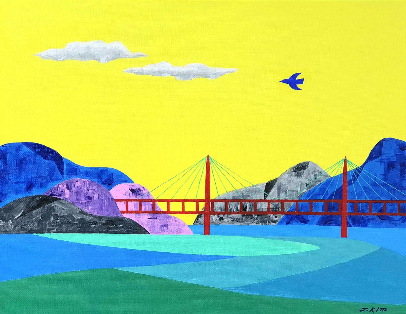 [제이킴, 사랑이 온다, 40.9 x 31.8 cm. Acrylic on Canvas, 2019]