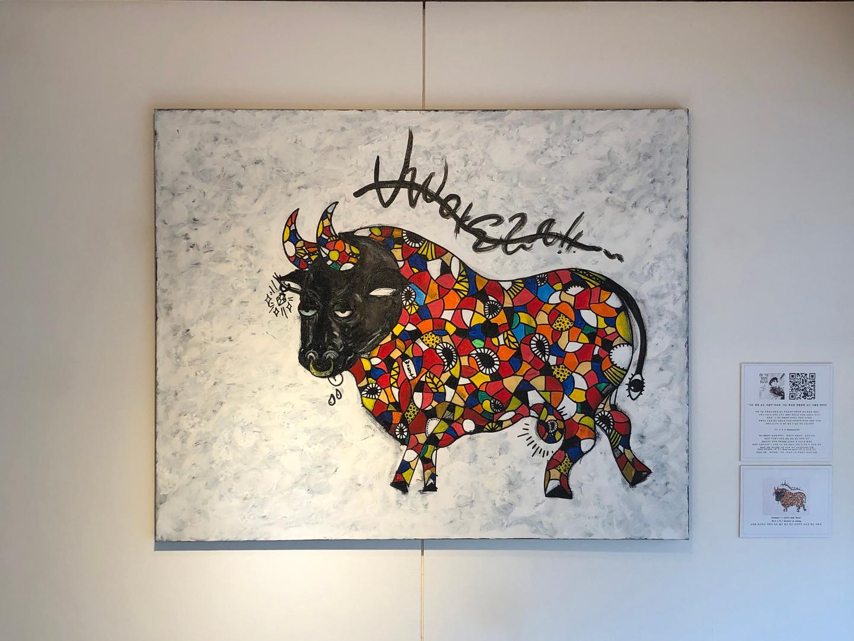 [주동찬, Picasso, 90 x 72.7 cm. Acrylic on Canvas, 2020]