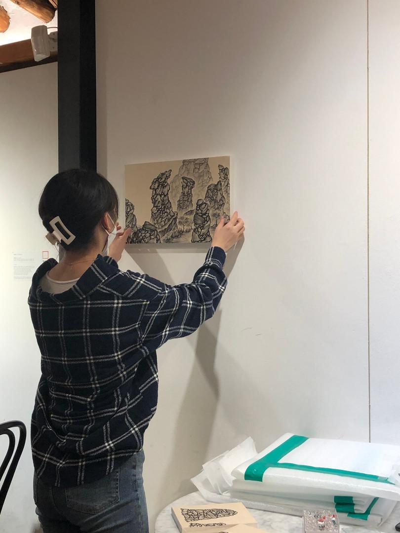 [김혜민, 흘러가는, 41 x 27 cm, 장지에 먹, 2019]