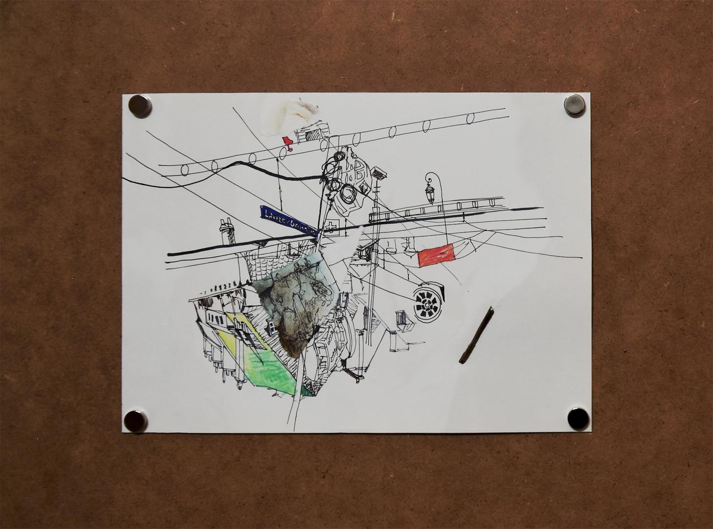 Drawing Collage_종이에 혼합재료_가변 크기_2020 (4).