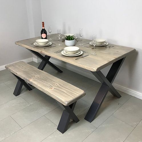 The Loxley Dining Set - Table and One Bench