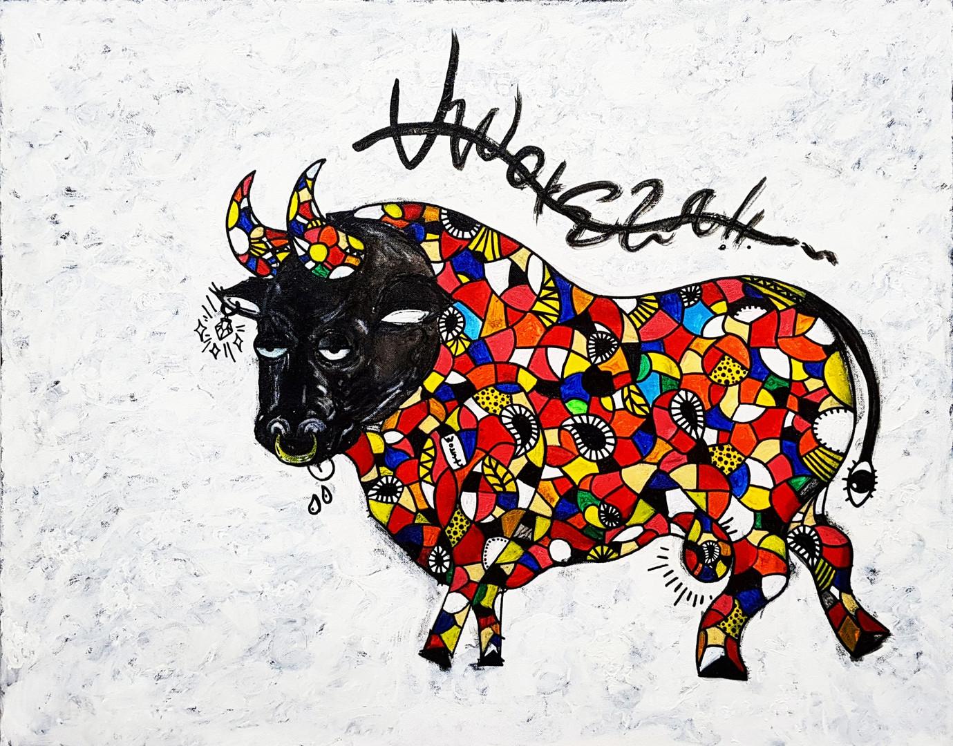[주동찬, Picasso, 90 x 72.7 cm. Acrylic on