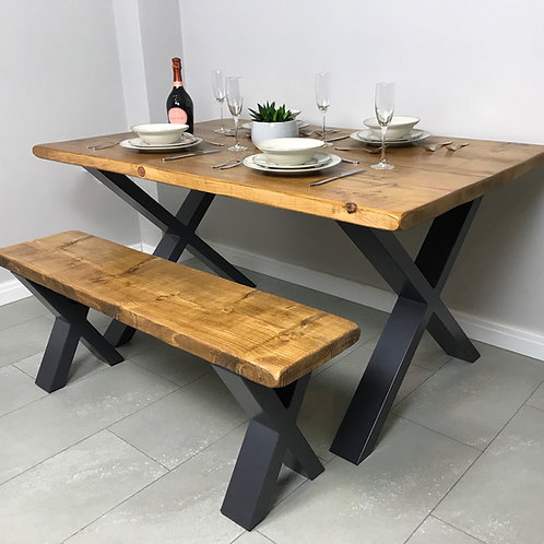 The Loxley Dining Set - Table and 2 Benches