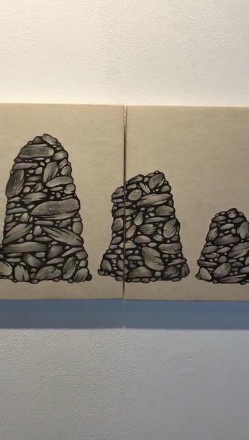 [김혜민, 쌓이다, 28 x 18 cm, 장지에 먹, 2020].mp4