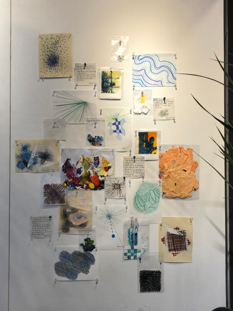 [Nol, Split The Room, Paper, Vinyl, Acrylic, Drawing, flexible, 2020]