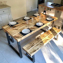 """Trapezium Dining Table 3"""" Top"""
