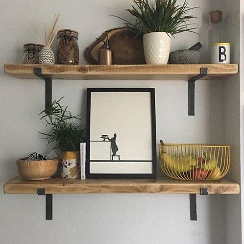 Rustic Shelf with Brackets