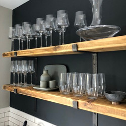 Rustic Shelves with Brackets