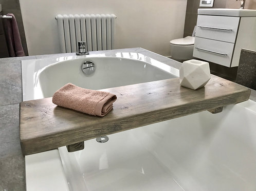 Grey Rustic Bath Board