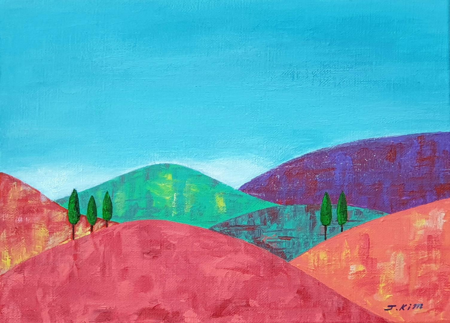 [제이킴, 가을은 아프다, 33.4 x 31.8 cm. Acrylic on Canvas, 2019]