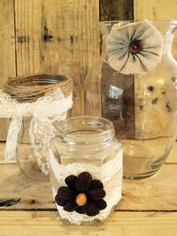 rustic jars