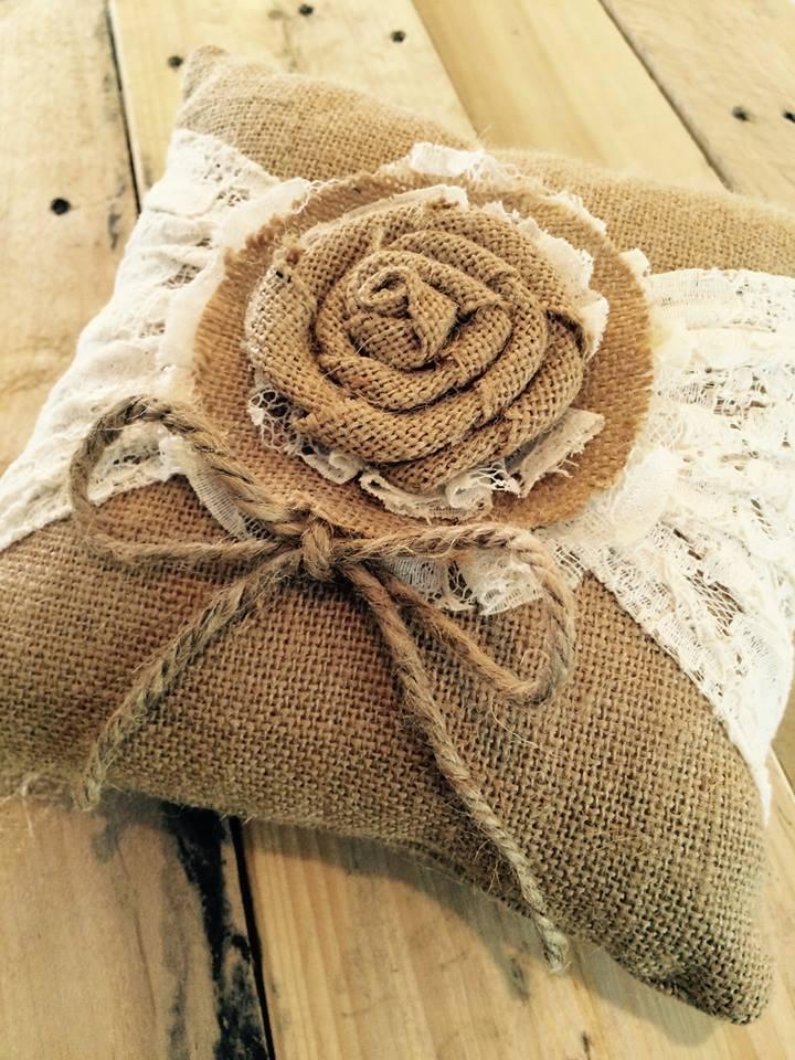 rustic ring bearer pillow