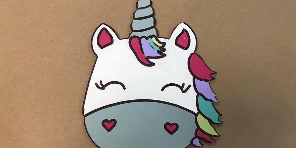 Paint-by-Line Unicorn