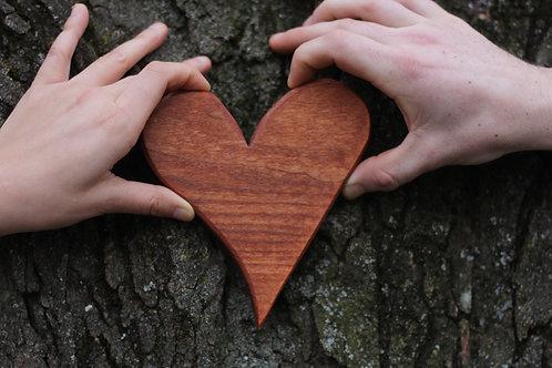 Misshaped Oak Hearts