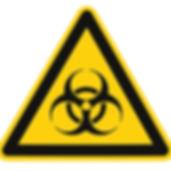 Biohazard symbol sign of biological thre