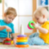 Children playing together. Toddler kid a