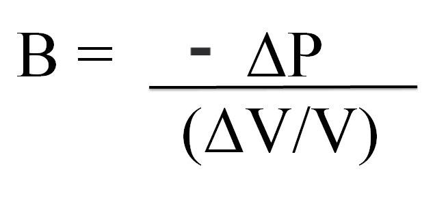 B= (delta P)/(delta V/ V)