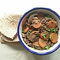 Lentils, Carrots and Mushroom Stew (Ve)(GF option available)