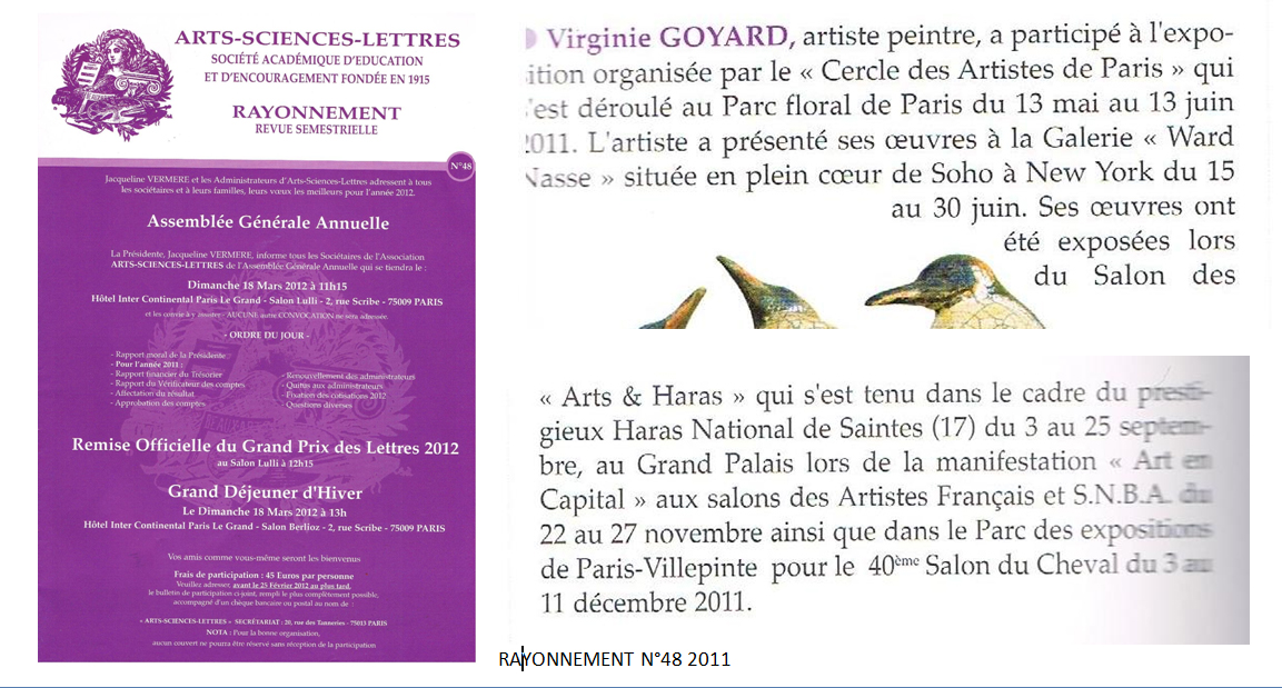 Arts Sciences Lettres n°48