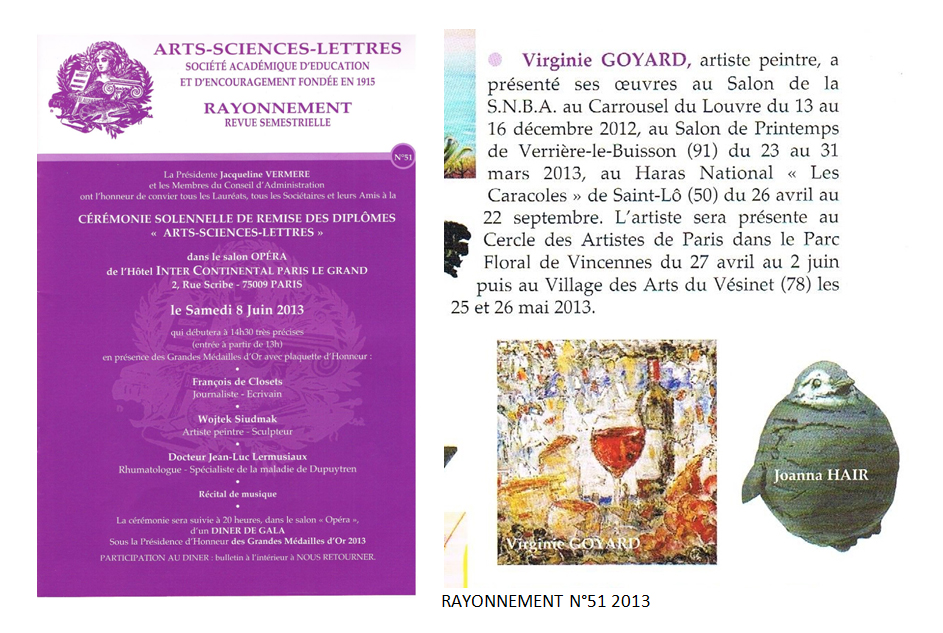 Arts Sciences Lettres n°51