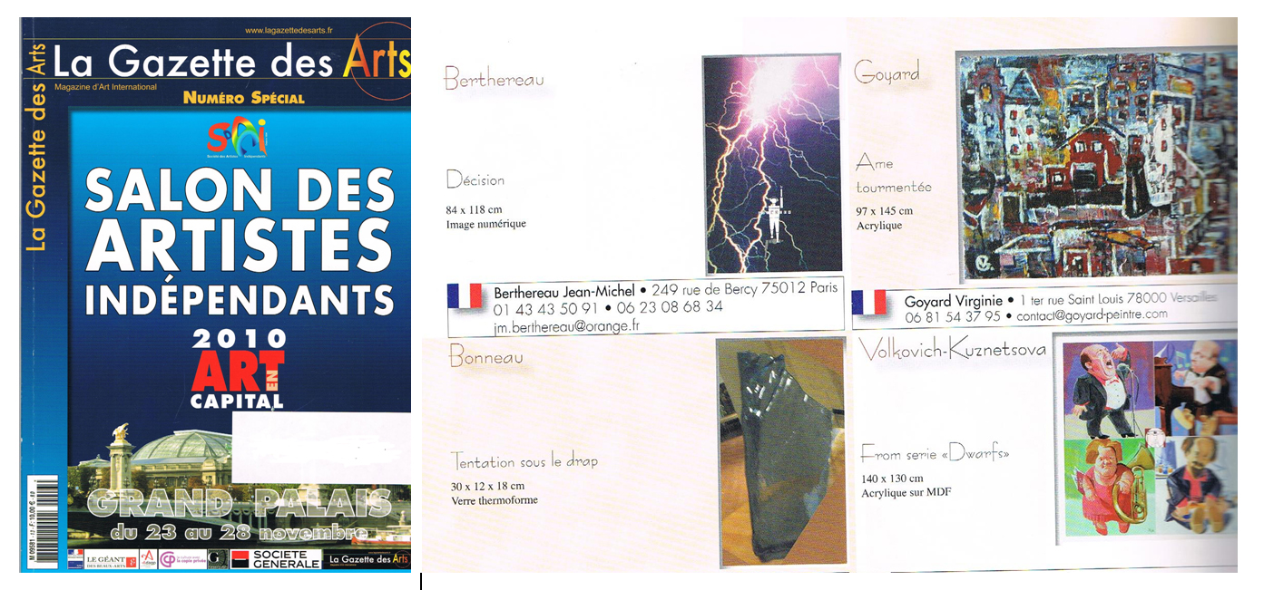 La Gazette des Arts, nov. 2010