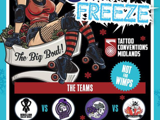 Halifax Bruising Banditas v Rebellion Roller Derby at Tattoo Freeze!