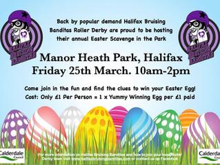 Halifax Bruising Banditas Easter Egg Scavenger Hunt!!