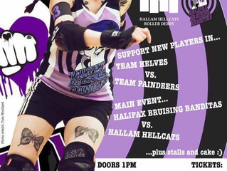 Halifax Bruising Banditas v Hallam Hellcats plus Christmas Cherry Popper!