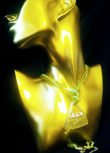 Green Sea Glass Pendant Necklace
