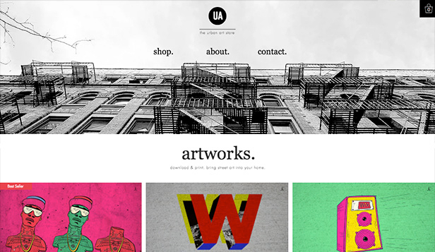 Online Store website templates – Urban Art Store