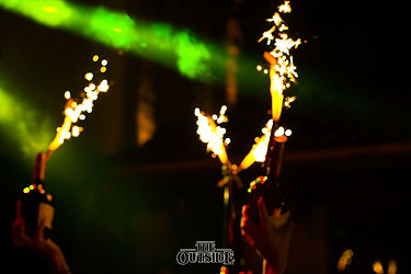 Bottle Show with Sparklers