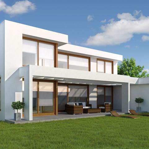 Casa y patio