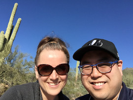 Dr. Rob and Kasia in the Desert