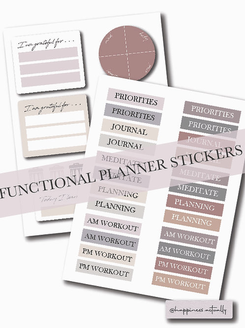 January Planner Stickers