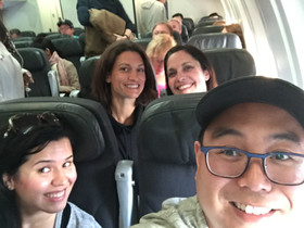 The Tooth Doctors Team on an airplane