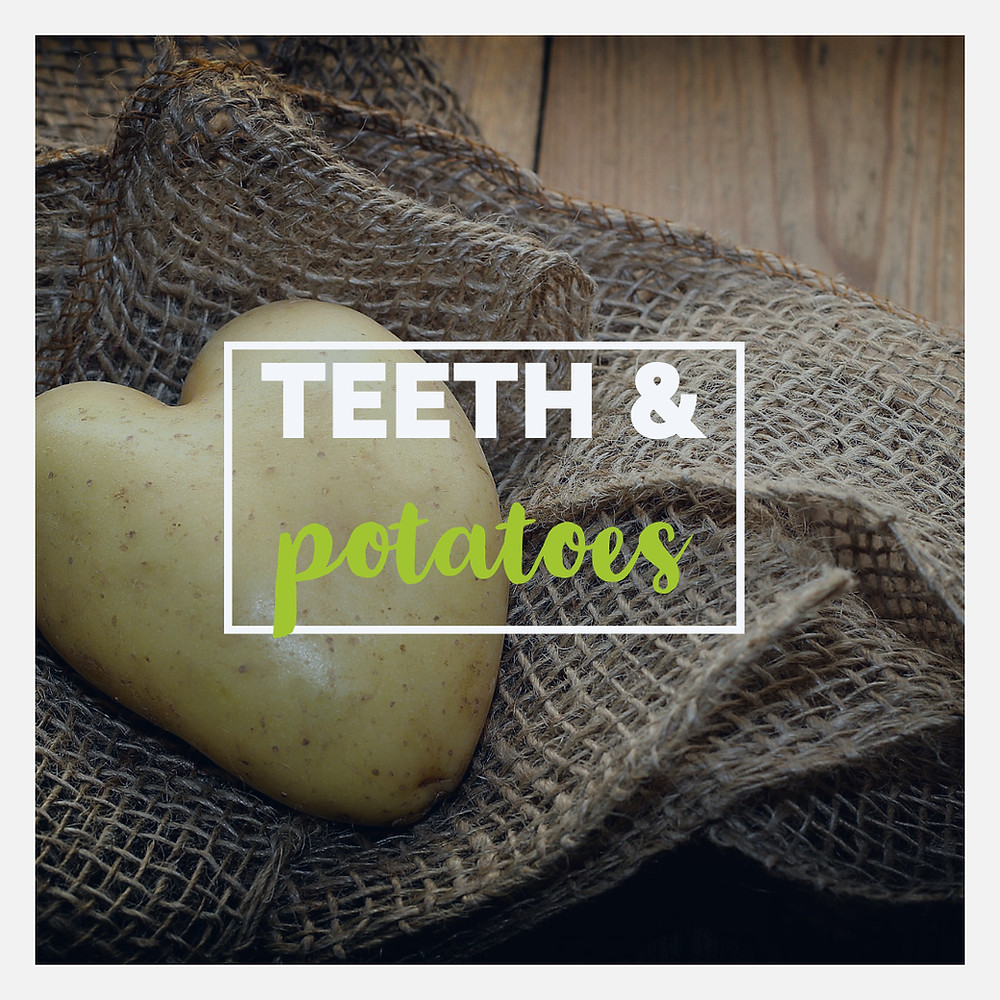 healthy foods for your teeth, potatoes, sweet potatoes, potato flossing