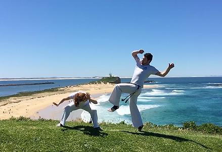 Capoeira Newcastle | Quebra and Serenata training above Nobby's Beach