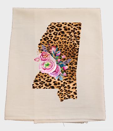 Mississippi Leopard Tea Towel