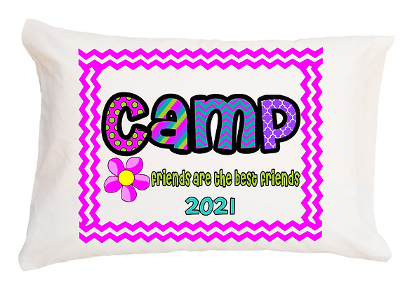 Camp Friends Personalized Pillowcase