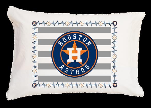Astros Heartbeat Standard Pillowcase