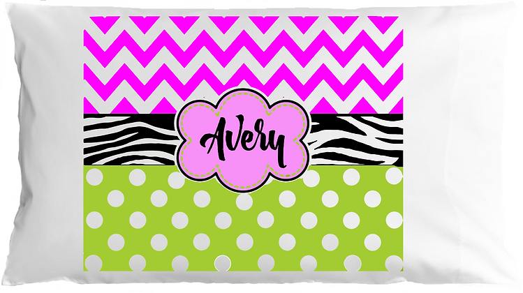 Avery Style w/Custom Name Standard Pillowcase