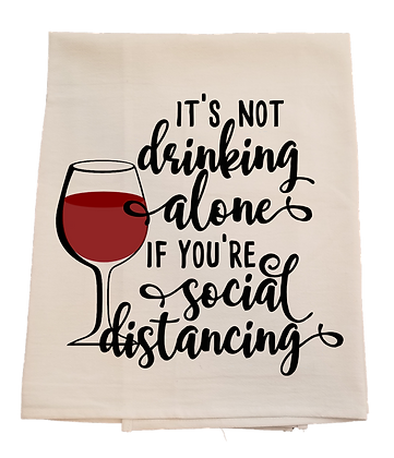 Social Distancing Tea Towel