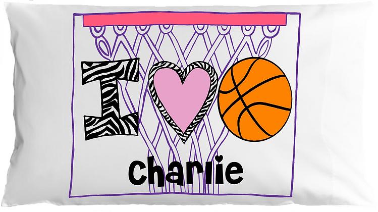 I Heart <3 Basketball Travel Pillow