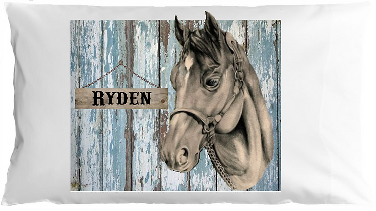 Rustic Horse w/Custom Name Standard Pillowcase