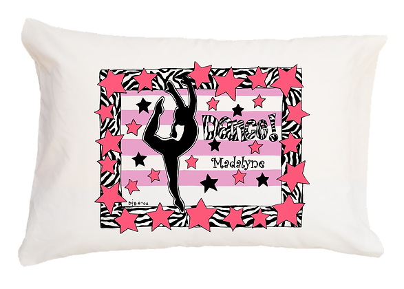 Dance w/Custom Name Standard Pillowcase