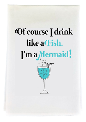 Drink Like A Fish Tea Towel