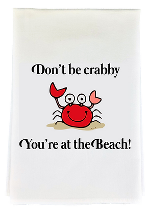 Don't Be Crabby Tea Towel
