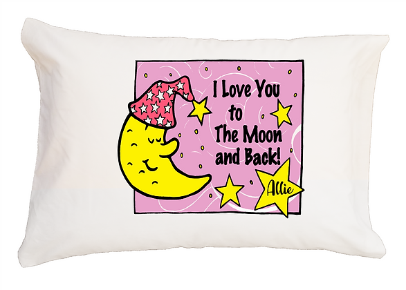 I Love You To The Moon and Back Toddler Pillow